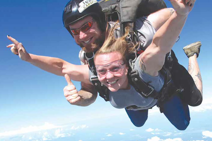 I ALWAYS WANTED TO JUMP OUT OF A PLANE