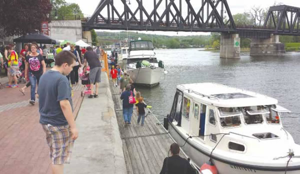 Spring Canal Town Celebrations Welcome Boaters