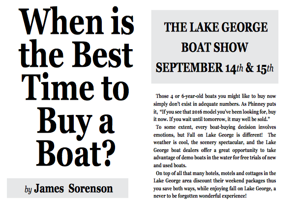 When to Buy a Boat